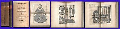 Ferguson's Physics Lectures,1814/3 Volumes/48 Plates/Astronomy/Mechanics/Leather