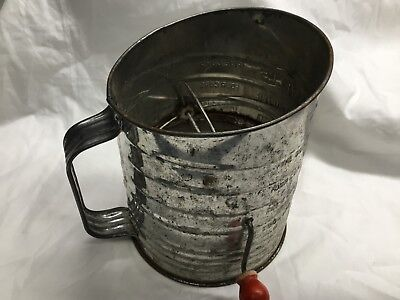 Vintage Bromwell's Flour Measuring Sifters 5 Cups - still works great
