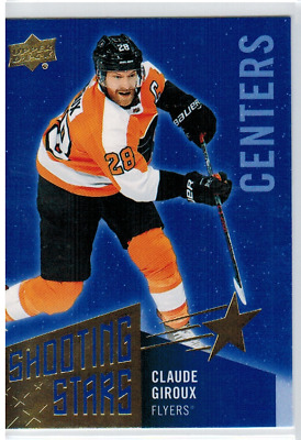 2018-19 Upper Deck Series 1 Shooting Stars Blue Claude Giroux SSC-7