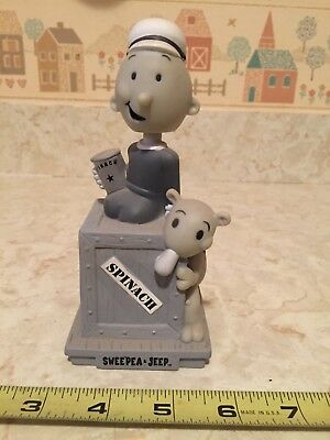 2008 Swee'pea and Jeep Bobble Head FunKo Grey and White