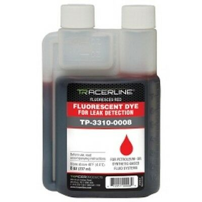 8 oz. (237 ml) Bottle Synthetic or Petroleum-Based Fluid Dye - Glows RED New!