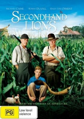 Secondhand Lions (DVD, 2008) Michael Caine Robert Duvall Brand New & Sealed R4