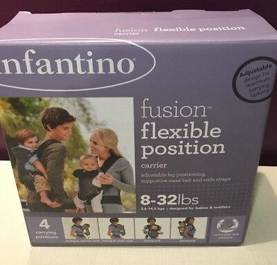New Infantino Fusion Flexible Position Baby Carrier Color Black