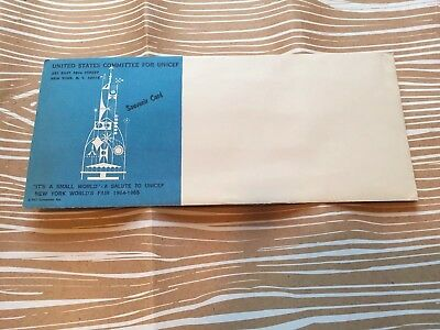 It's A Small World New York World's Fair Souvenir Card In Unopened Envelope