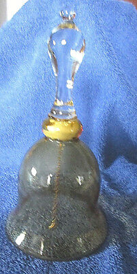 """Collectible Bell: 7"""" Yellow Glass (R1S1)"""