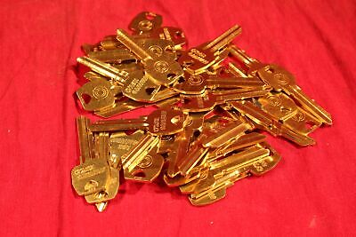 Lot of 40 SARGENT - Minute Key CO106 Key Blanks, Locksmiths. YELLOW BRASS.