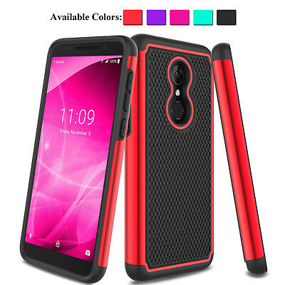 For Alcatel 3/T-Mobile Revvl 2/Alcatel REVVL 2 5052W Shockproof Armor Case Cover