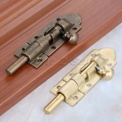 Brass Fastener Cupboard Latch Sliding Bolt Lock Door Gate Guard Hardware Screws