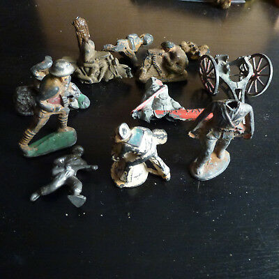 Lot of Misc. Broken Vintage Antique Metal and Plastic Toys