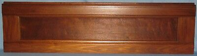 "ANTIQUE SOLID BURL WALNUT PANEL NATURAL FINISH SET IN FRIEZE 37 1/2""L x 10""H"