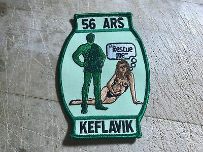 """1970s/1980s? US AIR FORCE PATCH-56th ARS """"Rescue Me"""" KEFLAVIK-ORIGINAL USAF!"""