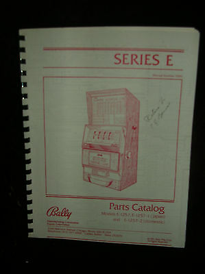 Bally Slot Machine Parts Catalog Series E 7090 1981 Print 1257-1257-1 & 1257-2