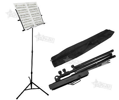 Metal Adjustable Foldable Music Sheet Stand with Carry Bag