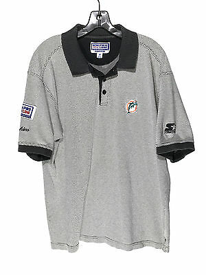 deaa6387b Starter Pro Line Miami Dolphins Polo Shirt NFL Authentic Coaches Mens  Medium M