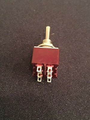 DPDT Mini Toggle Switch On On On 6 Pin, On-On-On, Solder Lugs MTS-2 US Vendor