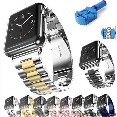 OZ Stainless Steel Metal Link Band For Apple Watch Series 4 3 2 1 Strap Bracelet