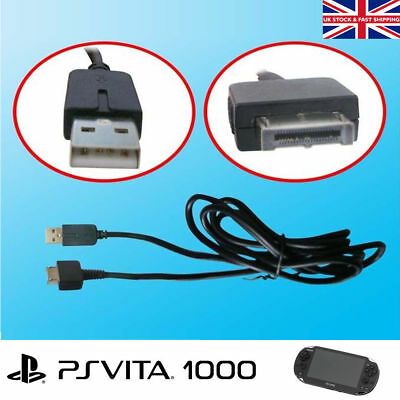 2 in 1 USB Power Charging Charger Data Transfer Cable Lead for Sony PS Vita 1000