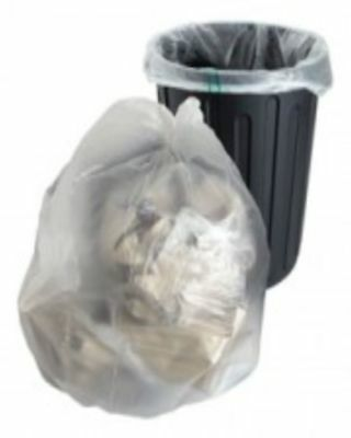 "10 Clear Refuse Sacks Bags Size 18x29x39"" 140gauge Bin Liners FREE P+P"
