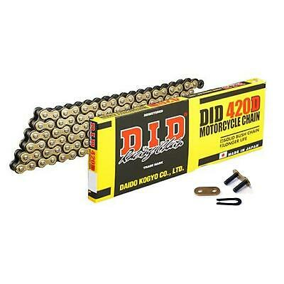 DID Gold Standard Roller Motorcycle Chain 420DGB Pitch 98 links w/ Split Link