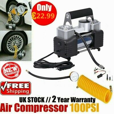 Portable Heavy Duty 12V Car Tyre Air Compressor 150PSI Electric Inflator Pump UK