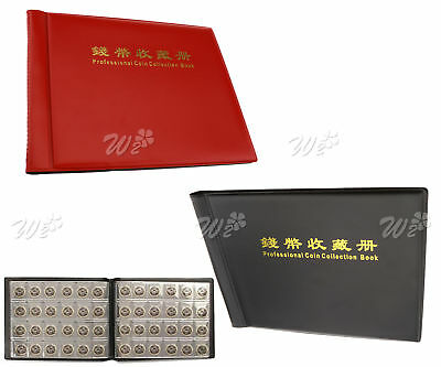 240 Coin Collection Holders Storage Money Penny Pockets Album Book Collecting