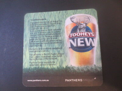 1 only TOOHEYS NEW BEER  / PANTHER GROUP. ,BEER Coaster