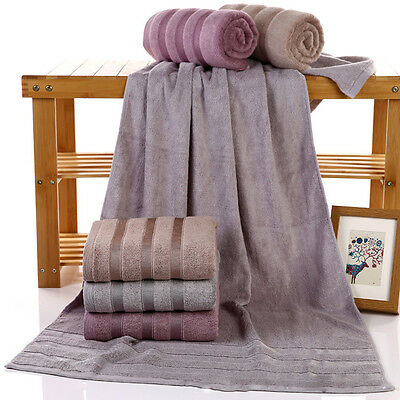 Bamboo Fiber Large Bath Towel Shower Bathroom Home Hotel Travel Towel 12 Styles
