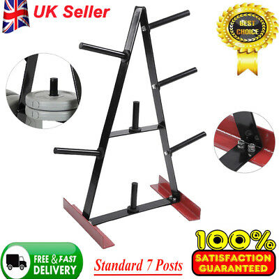 Universal Standard Weight Plate Storage Rack f 7 Post Gym Disc Stand/Tree/Holder