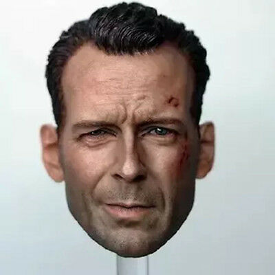 1/6 Soldier head carving Bruce Willy Old cloth tiger gallbladder style