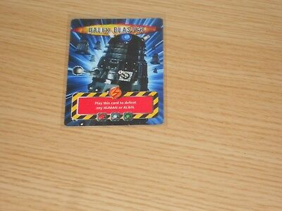 Doctor Who Battles in Time, DALEK BLASTER, Scarce Card (unnumbered) Good Cond