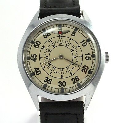 LUCH STURMANSKIE VINTAGE Soviet Russian USSR military airforce watch aviator
