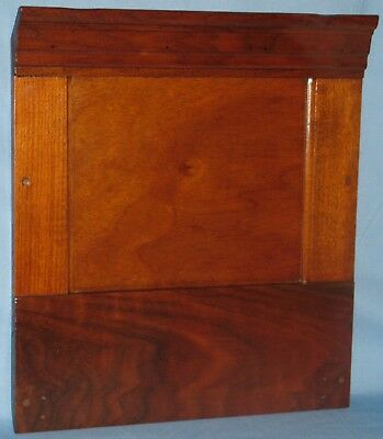 "ANTIQUE SOLID BURL WALNUT PANEL NATURAL FINISH TIERED MOLDING 17""H x 15""W"