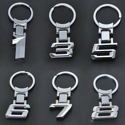 Car Logo Alloy Key Chain keyring Key Holder Ring For BMW 1 3 5 6 7 8 X Series