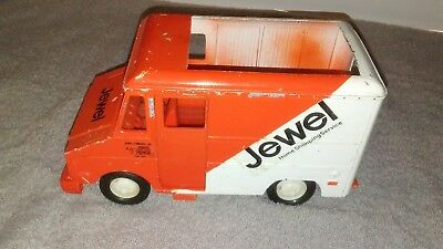 Vintage Pressed Steel Jewel Home Shopping Service Delivery Truck