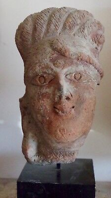 Antique Superb Terra Cotta  Buddha head  Indus Valley