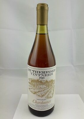 Chardonnay Rutherford Vintners 1985 Napa Valley