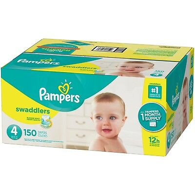 Pampers Swaddlers Disposable Diapers Size 4, 150 Count - Free Shipping
