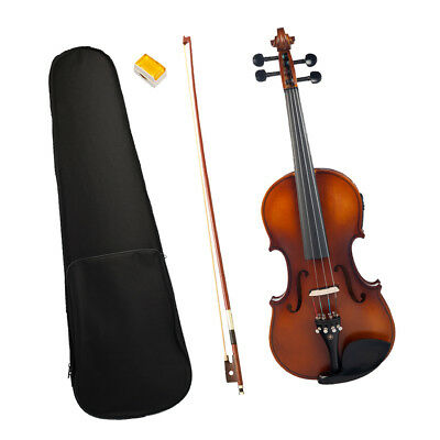 Solid Wood 4/4 Electric Acoustic Violin Set for Beginners Violinist Students