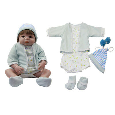 "Cute Newborn Baby Doll Clothes for 22-23/"" Reborn Rompers Jumpsuit Pants Hat"
