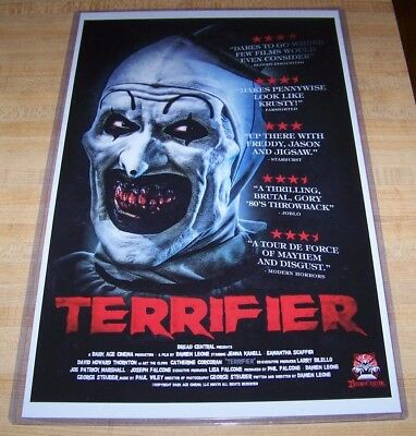 Terrifier 11X17 Art the Clown Movie Poster David Howard Thornton