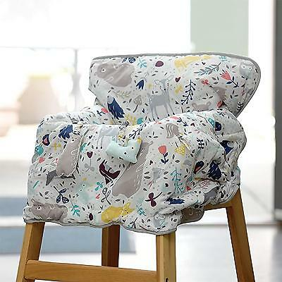 Eddie Bauer Reversible Comfy Cart Cover & High Chair Cover, White
