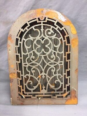 Antique Cast Iron Arch Gothic Heat Grate Wall Register 8X12 Dome Vtg Old 41-19D