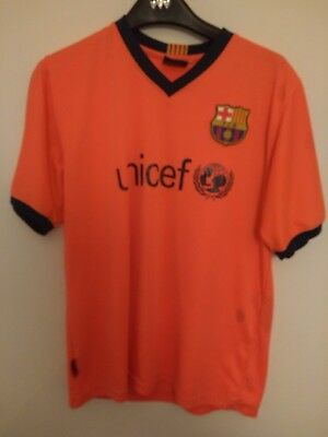 aec7f12aa BARCELONA AWAY KIT Lionel Messi 10 Unofficial kit - Junior Size ...