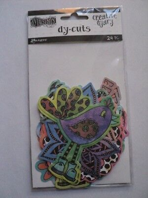 Ranger Dylusions Creative Dyary Dy-Cuts Birds & Flowers Colour Bnip *look*