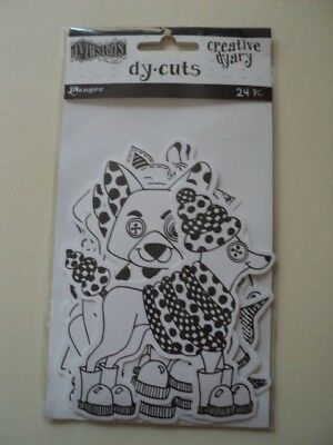 Ranger Dylusions Creative Dyary Dy-Cuts Animals Black & White Bnip