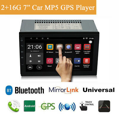 "7"" 2 DIN Android 8.1 Octa-core Car AM FM MP3 MP5 GPS Bluetooth 2+16G WIFI 3G 4G"