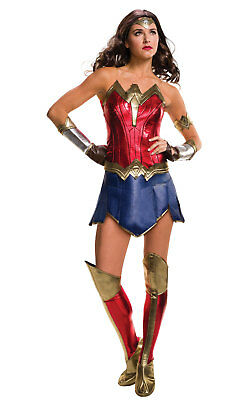 Wonder Woman Womens Costume DC comics Marvel Superhero Fancy Dress outfit