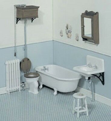 Dollhouse Miniature Chrysnbon Victorian Bathroom Kit