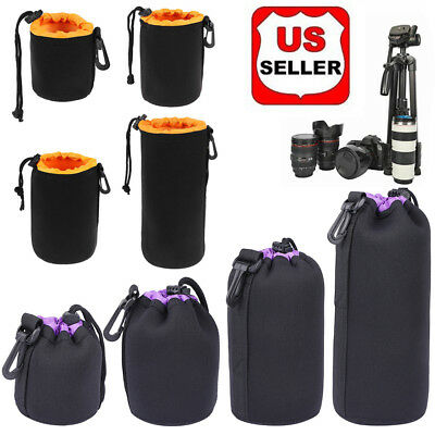 Size: S-XL Waterproof Neoprene Lens Pouch Protective Bag for Digital SLR Camera