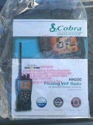 Cobra Handheld Floating VHF Radio w/ Bluetooth HH500